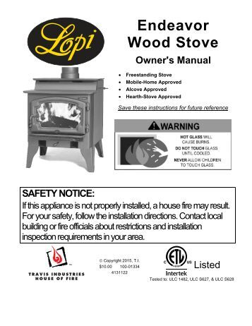 Wood Stove Rear Fan 2 Installation Instructions Avalon