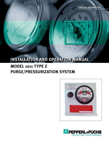 Model 1011 Type Z Purge/Pressurization System - ISC Enclosure ...