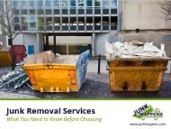 Junk Removal Services – Tips to Hire!