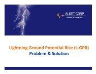 Lightning Ground Potential Rise (L-GPR) - Association of ...