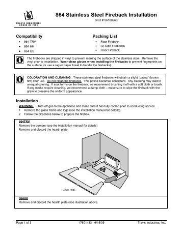 Fireback Instructions 864 St Avalon Fire Styles