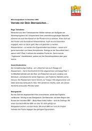 20091222_Auswertung der Sternzeichen - Food-Xperts
