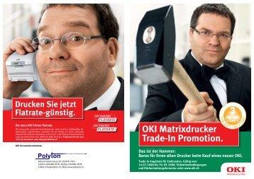 OKI Matrixdrucker Trade-In Promotion.