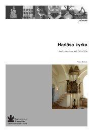 Harlösa kyrka - Regionmuseet Kristianstad