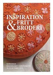 inspiration fritt broderi - Regionmuseet Kristianstad