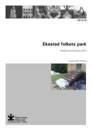 19. Ekestad folkets park - Regionmuseet Kristianstad