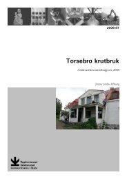 Torsebro krutbruk - Regionmuseet Kristianstad