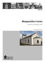 Skepparslövs kyrka - Regionmuseet Kristianstad