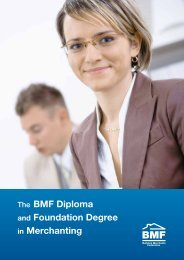 bmf diploma in merchanting - The Builders Merchant Federation