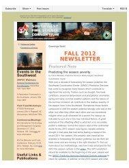 Fall 2012 - Southwest Fire Science Consortium