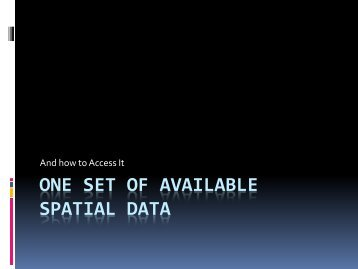 Available Spatial Data – Charley Martin