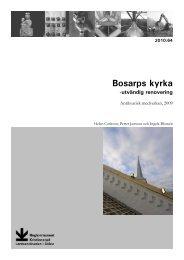 Bosarps kyrka - Regionmuseet Kristianstad