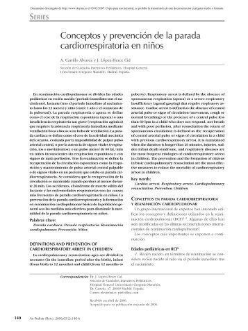 1-Conceptos y prevencion de la parada cardiorespiratoria en niños