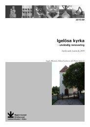 Igelösa kyrka - Regionmuseet Kristianstad