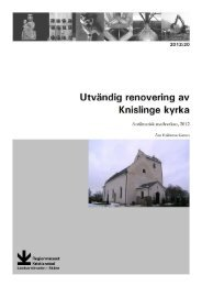 Knislinge kyrka - Regionmuseet Kristianstad