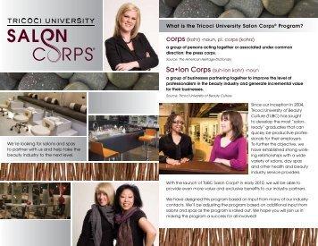 What is the Tricoci University Salon Corps® Program? corps (kohr ...