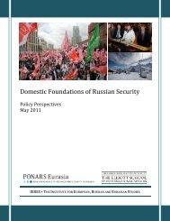 Domestic Foundations of Russian Security - PONARS Eurasia