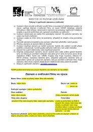 Záznam z ověřování - vzor a pokyny