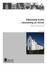 Fjärestads kyrka - Regionmuseet Kristianstad