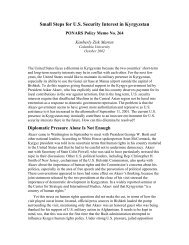 PONARS Policy Memo 264 - Center for Strategic and International ...