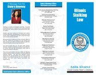 Illinois Stalking Law - Cook County State's Attorney's Office