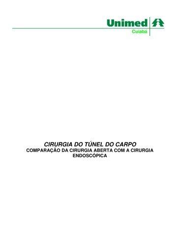 CIRURGIA DO TÚNEL DO CARPO - Unimed Cuiabá
