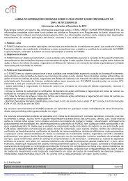 LÂMINA DE INFORMAÇÕES ESSENCIAIS SOBRE O ... - Citibank