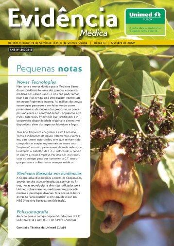 Pequenas notas - Unimed Cuiabá