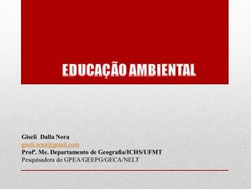 1_EDUCAÇÃO AMBIENTAL.pdf - Departamento de Geografia - UFMT