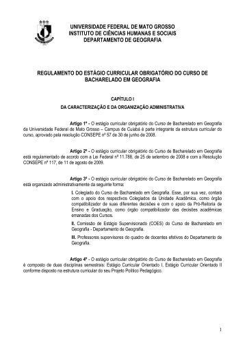 Regulamento_ ESTAGIO.pdf - Departamento de Geografia - UFMT