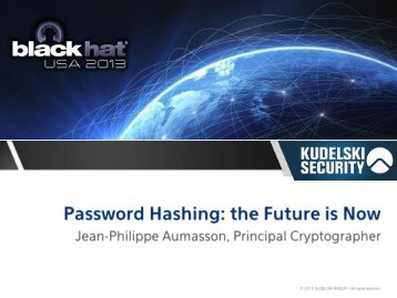 Password Hashing: the Future is Now