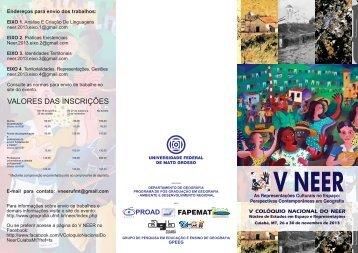 Folder do Evento - Departamento de Geografia - UFMT