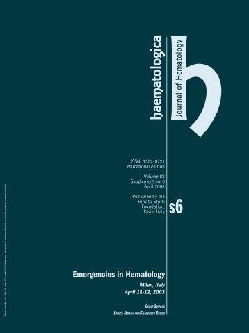 2003; MORRA - Haematologica - Supplements
