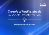 The role of Muslim schools in societal transformation