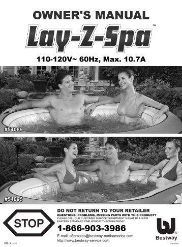 54089, #54095 Lay-Z-Spa--110-120V - Bestway
