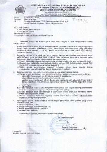 (Bagi Pengelola) Angkatan II Tahun Anggaran 2013 - Direktorat ...