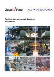 Testing Machines and Systems for Metals
