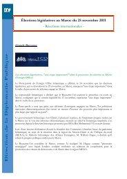Élections législatives au Maroc du 25 novembre 2011 - Réactions ...