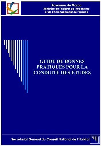 Guide de bonnes pratiques - Ministère de l'Habitat, de l'urbanisme et ...