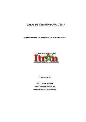 Documentación del proyecto correspondiente al año 2013 - Itran