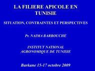 La Filière Apicole en Tunisie.pdf - Projet SERVAGRI