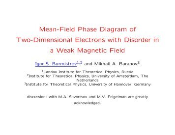 Mean-Field Phase Diagram of Two-Dimensional Electrons with ...