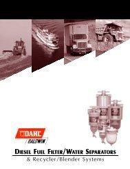 DIESEL FUEL FILTER/WATER SEPARATORS ... - Western Filters