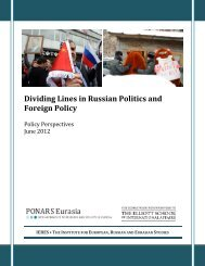 Dividing Lines in Russian Politics and Foreign Policy - The George ...