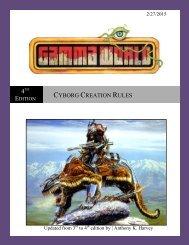 GW 4th Edition Cyborg Creation Rules - Darkonnia