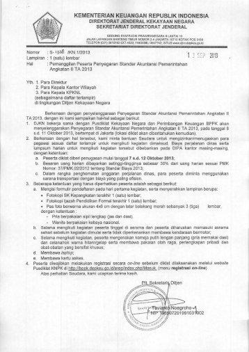 Pemanggilan Penyegaran Standar Akuntansi Pemerintah Angkatan ...