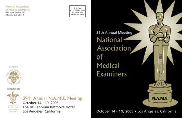 National Association of Medical Examiners - Telecom Association ...