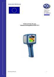 Thermal imager handbook - PCE Ibérica