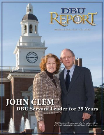 John Clem Helping to Build DBU for 25 Years - Dallas Baptist ...
