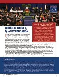 Expanding Academics, Student Life and Establishing Financial ...